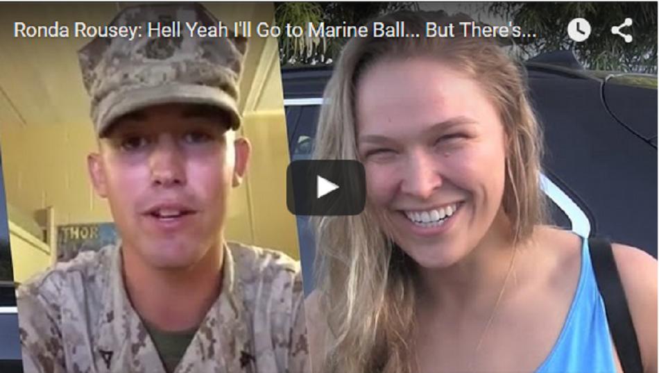 Marine, Marine Corps Ball, Ronda Rousey