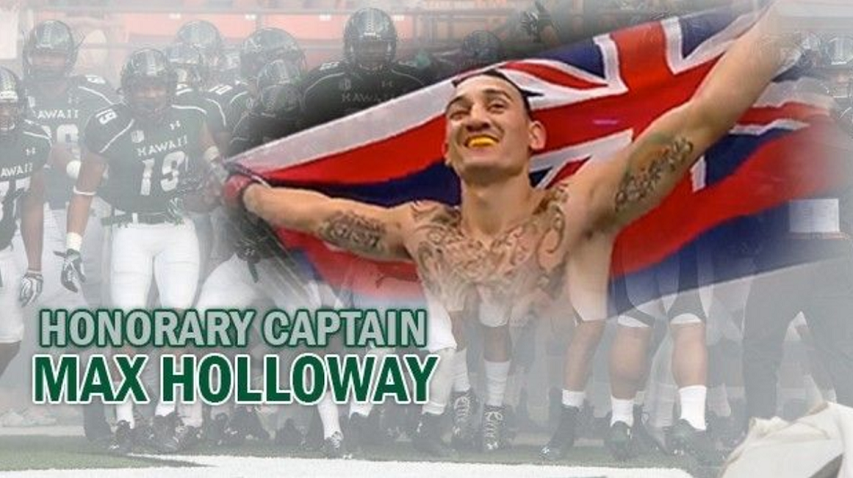 Max Holloway named Honorary Captain for Thursday football game