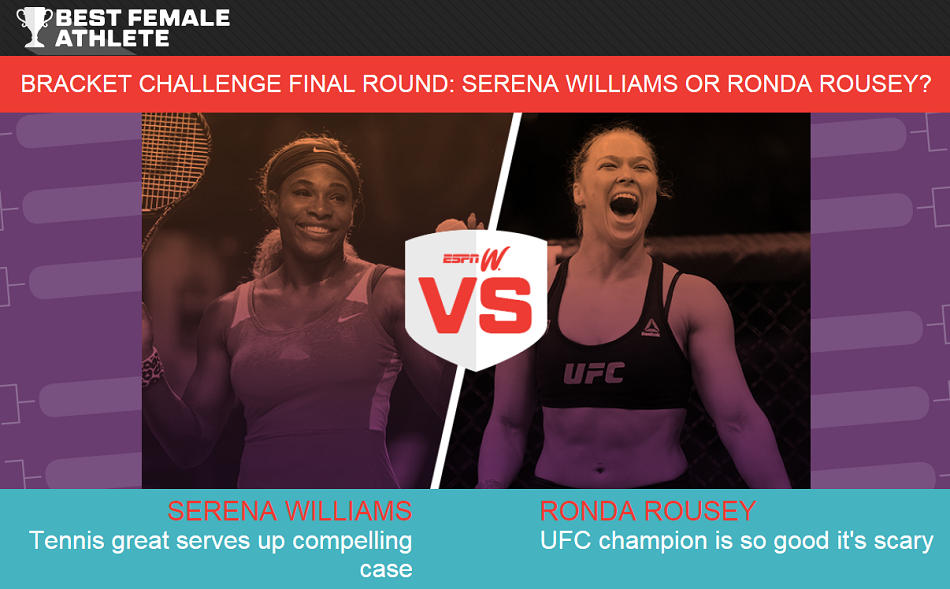 Ronda Rousey in Finals of ESPNW Best Female Athlete Contest