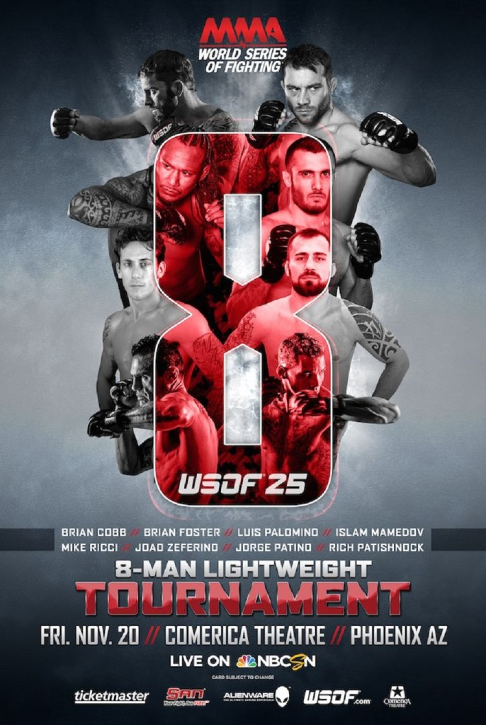 WSOF 25 To Feature One-Night, Eight-Man Tournament in Phoenix on Nov. 20