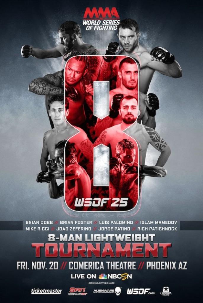 WSOF 25 weigh-ins LIVE Stream & Results – 6pm EST