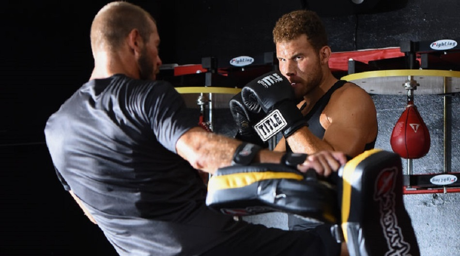 Cowboy Cerrone helps train NBA star Blake Griffin