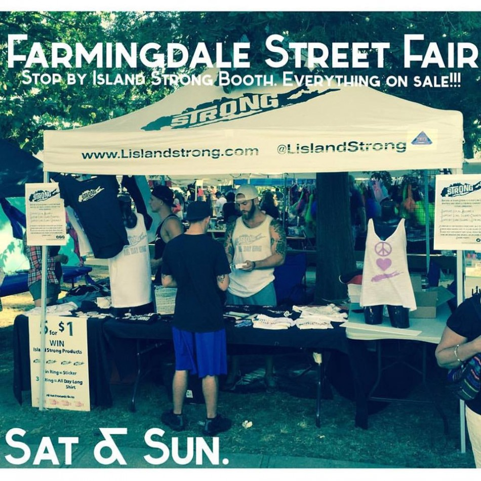 Chris Wade's Island Strong Booth At Farmingdale Street Fair Oct. 8th & 9th