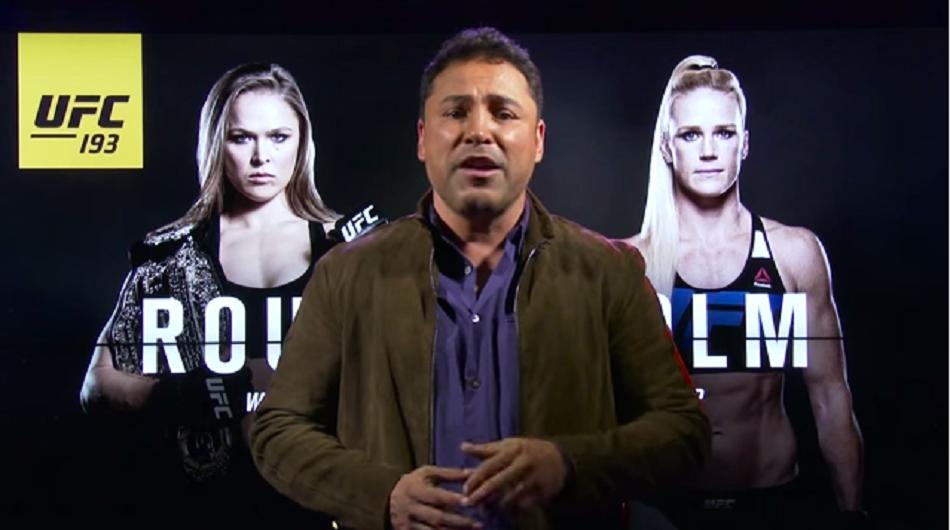 Oscar De La Hoya promotes UFC 193 Rousey vs Holm