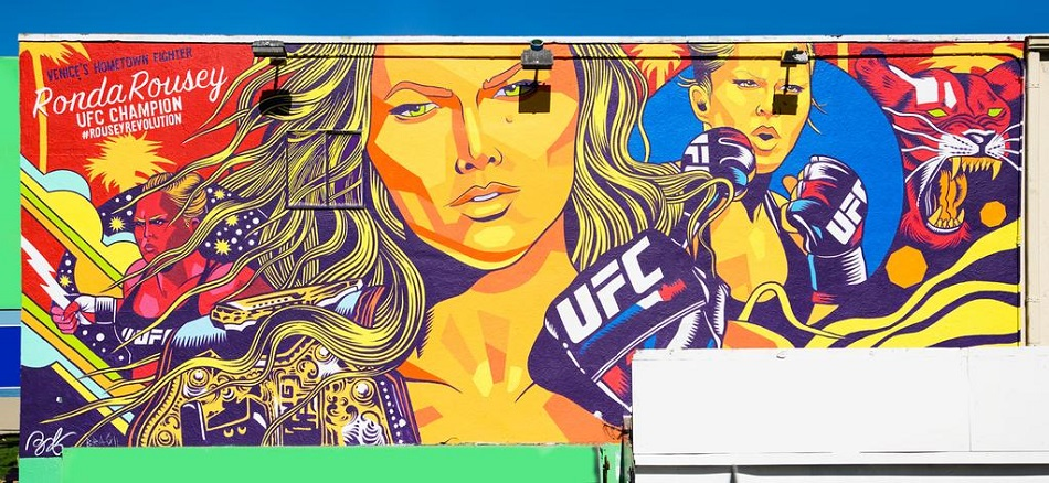 New Ronda Rousey mural unveiled in Venice Beach