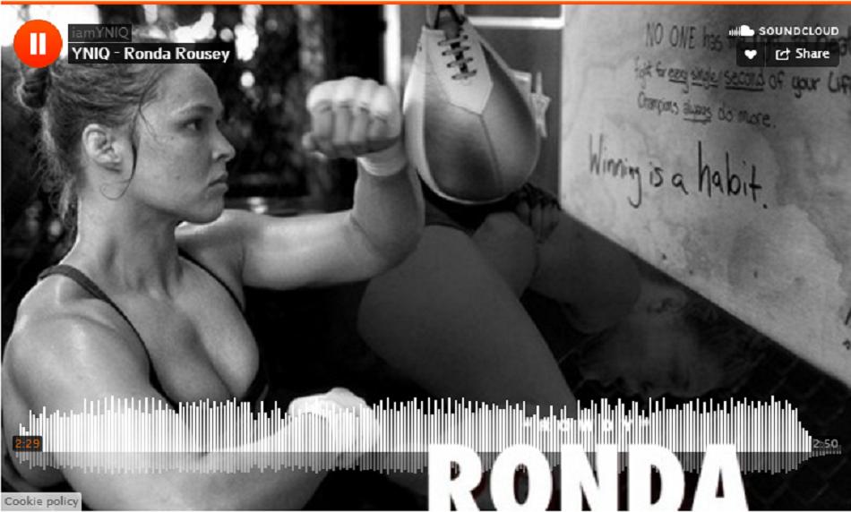 YNIQ raps about Rowdy Ronda Rousey