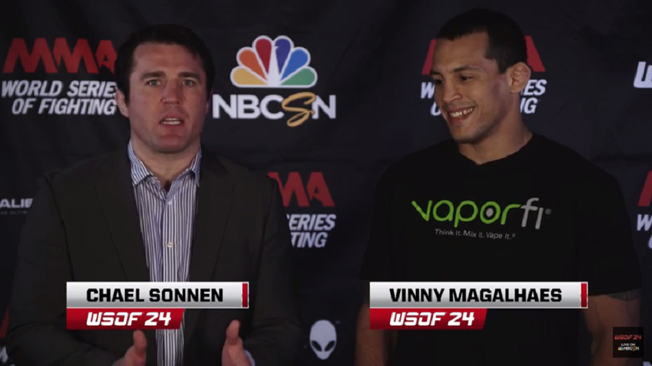 Video:  Chael Sonnen Speaks with WSOF 24's Vinny Magalhaes, Ali Abdelaziz