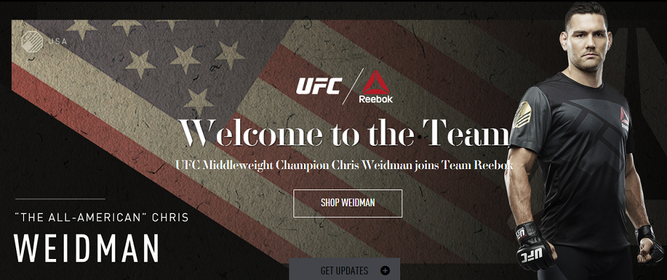 Reebok signs UFC champ Chris Weidman
