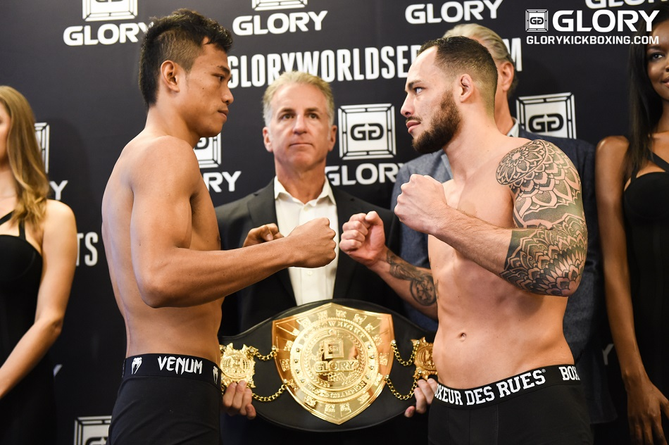 GLORY 25 & GLORY SuperFight Series Milan Weigh-in results