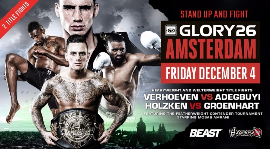 Two title fights official for GLORY 26 Amsterdam