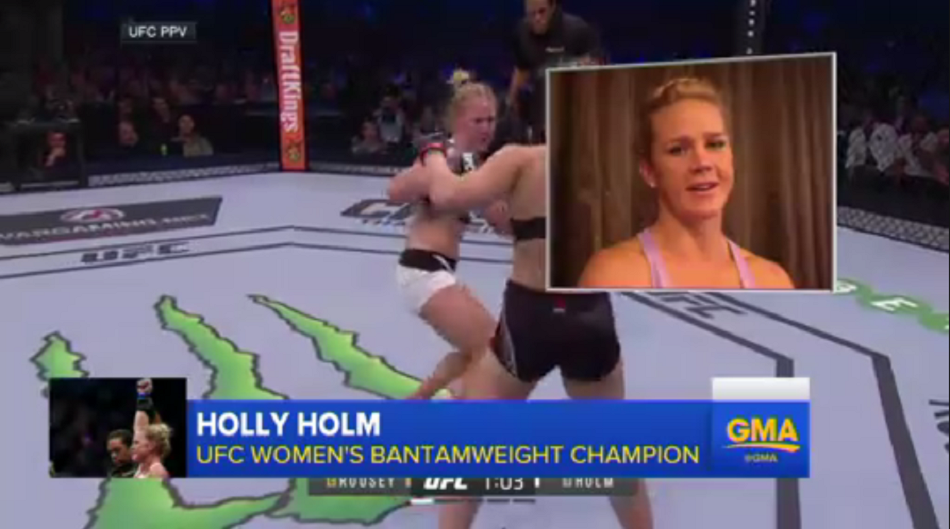 Good Morning America – Holly Holm Speaks Out After Ronda Rousey Upset