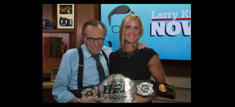 New UFC Champ Holly Holm Goes One-On-One With Larry King