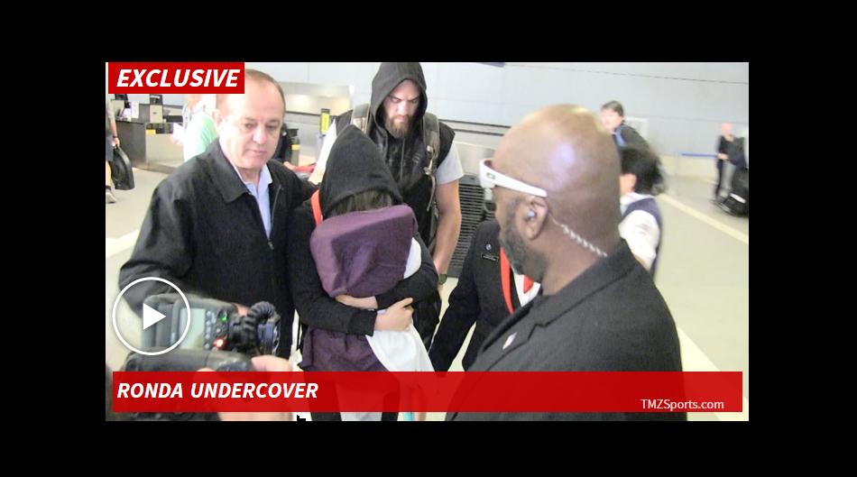 VIDEO:  Ronda Rousey lands back in LA after UFC 193