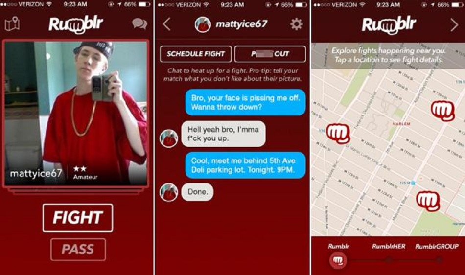 Want to Fight?  There's an App for that – Rumblr