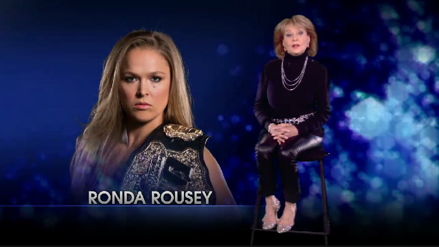 Rousey makes Barbara Walters list of Top 10 Fascinating People of 2015