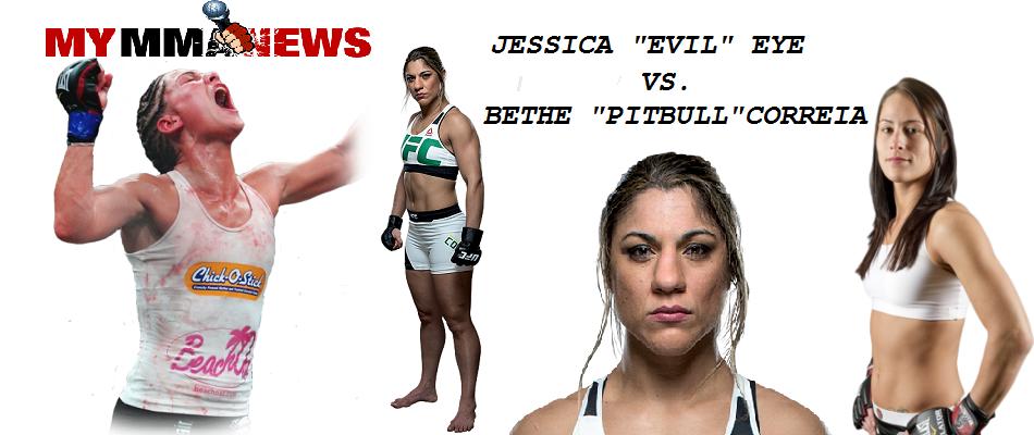 Jessica Eye vs Bethe Correia set for UFC Pittsburgh