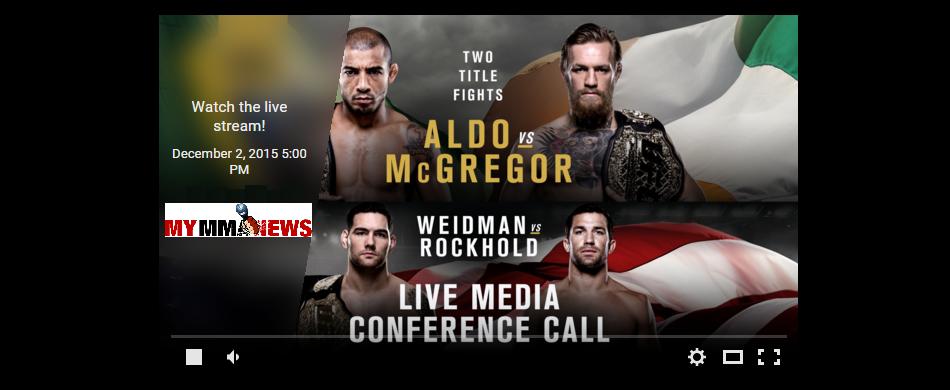 UFC 194: Aldo vs. McGregor Media Conference Call