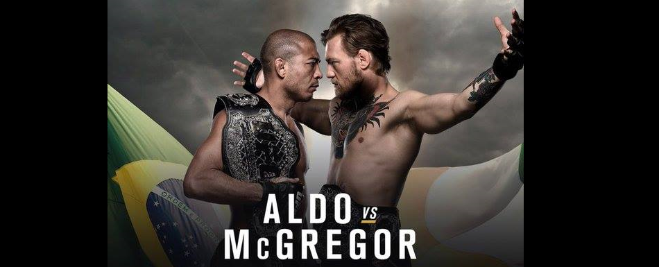Aldo and McGregor Fight for the Cover