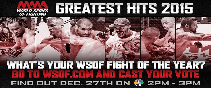 World Series of Fighting Returns to NBC on Sunday; Fans Vote for FOTY