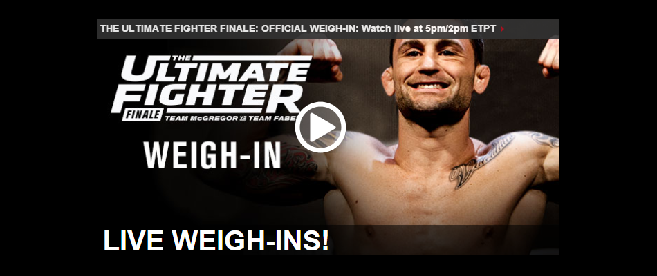 VIDEO: The Ultimate Fighter Season 22 Finale: Official Weigh-in