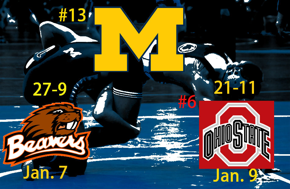 NCAA Wrestling: No.13 Michigan Takesdown Oregon State and No. 4 Ohio State
