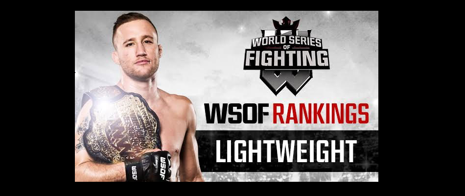 WSOF Power Rankings: Justin Gaethje Sits Atop Lightweight Division