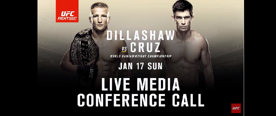 Listen to audio from: UFC Fight Night: Dillashaw vs. Cruz Media Conference Call