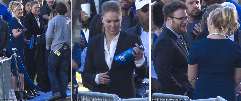 Ronda Rousey films Bud Light commercial with Amy Schumer, Seth Rogen