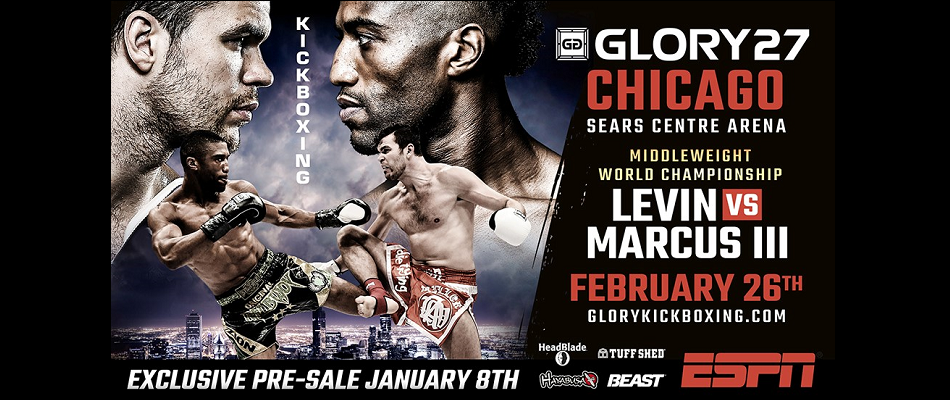 GLORY to return to Chicago with Levin vs Marcus 3, Feb. 26