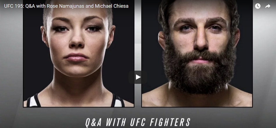 Watch UFC 195 Q&A with Rose Namajunas and Michael Chiesa