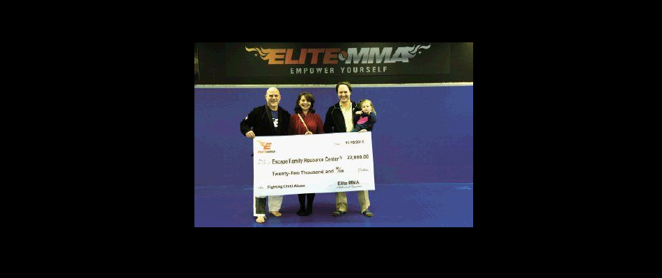 Elite MMA fights against child abuse, raises money for ESCAPE Family Resource Center
