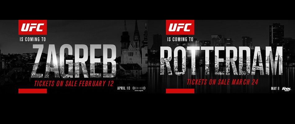 UFC announces landmark events in Croatia and The Netherlands