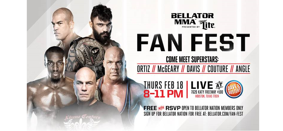 Bellator MMA announces lineup of current stars and legends for Houston Fan-Fest