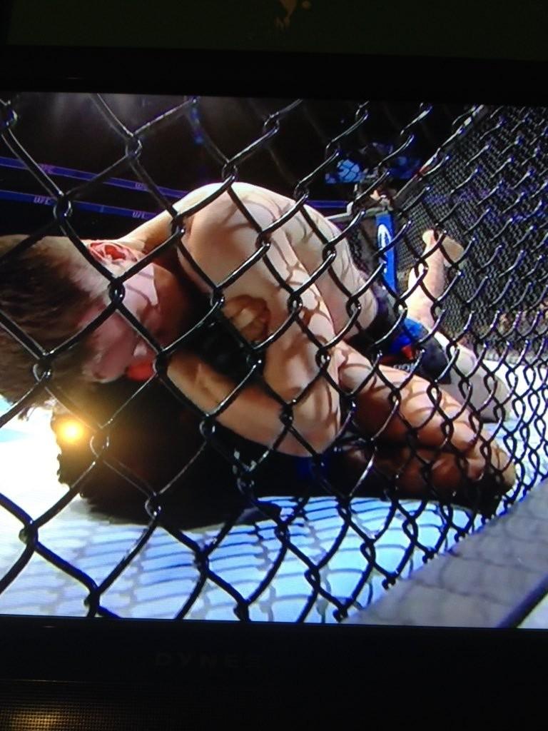 Chris Wade Chokes Out Mehdi Baghdad at UFC FN Boston