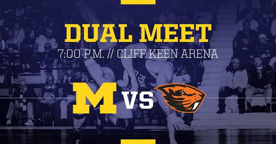 NCAA Wrestling: No. 13 Wolverines Host Oregon State Tonight in Ann Arbor