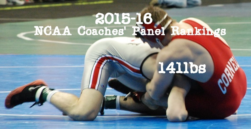 NCAA Wrestling: Coaches' Panel Wrestling Rankings Released – 141lbs Weight Class