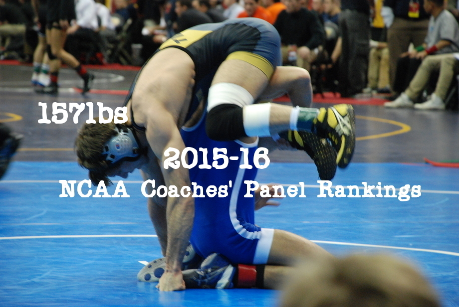 NCAA Wrestling: Coaches' Panel Wrestling Rankings Released – 157lbs Weight Class
