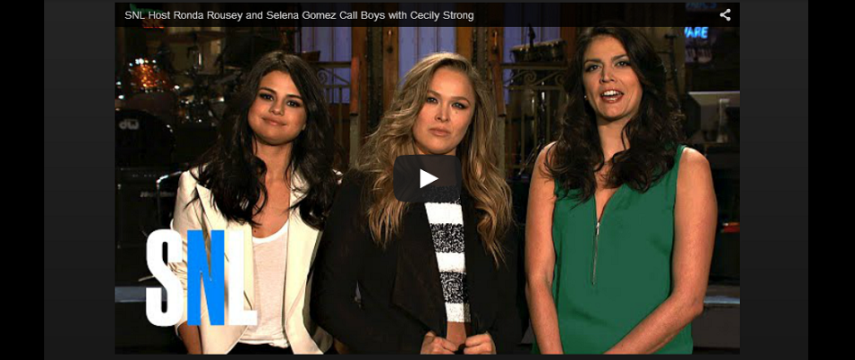 GIRL TALK – SNL Host Ronda Rousey and Selena Gomez Call Boys
