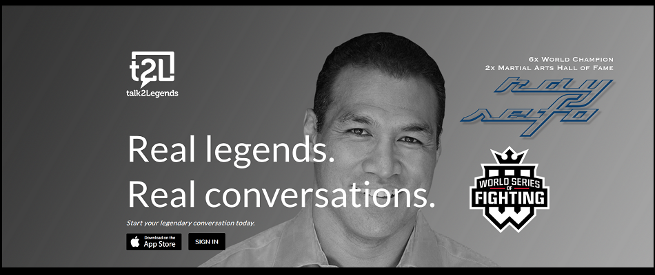Talk2Legends App Connects Fans To World Series of Fighting Stars