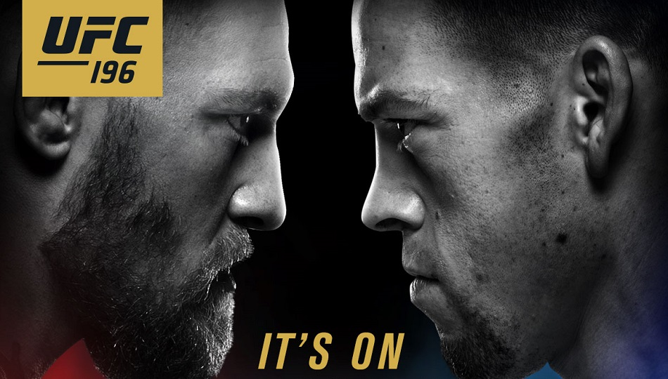 Nate Diaz vs Conor McGregor at UFC 196