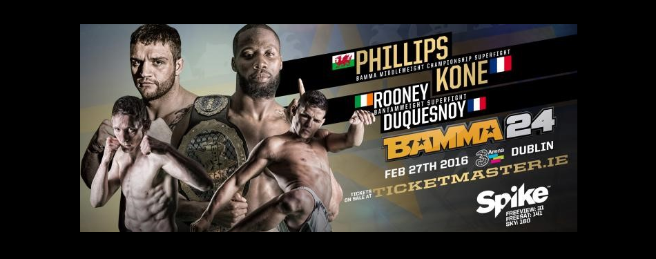 BAMMA Returns to Ireland February 27 for 'BAMMA 24 – Kone vs. Phillips'