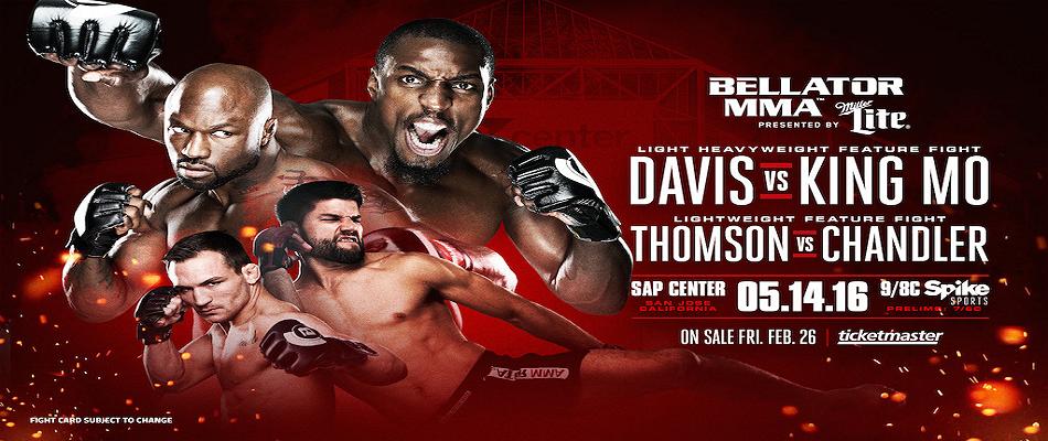 Bellator MMA Returns Home to San Jose on May 14