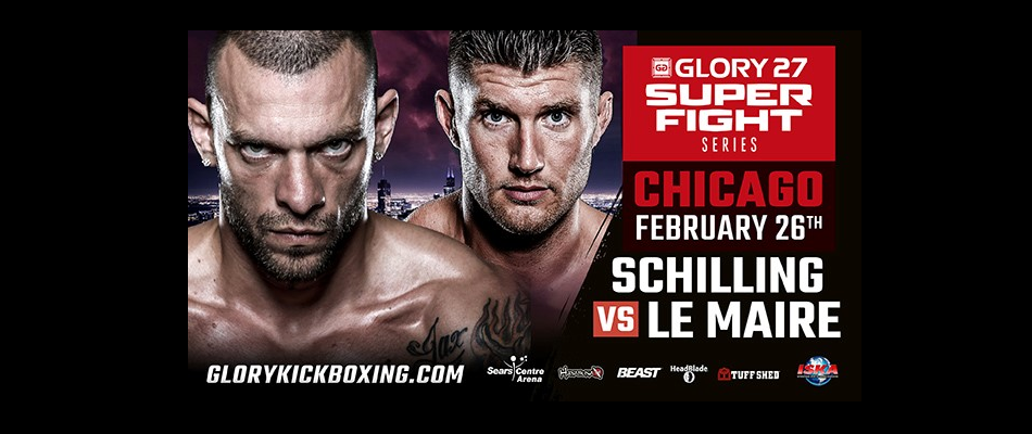 Joe Schilling vs Mike Lemaire headlines GLORY Superfight Series Chicago