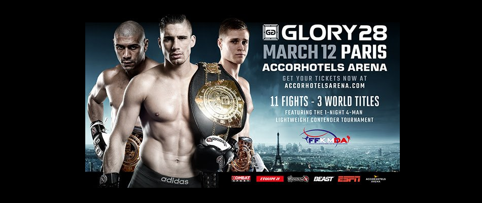 Three GLORY world titles on line in Paris, March 12