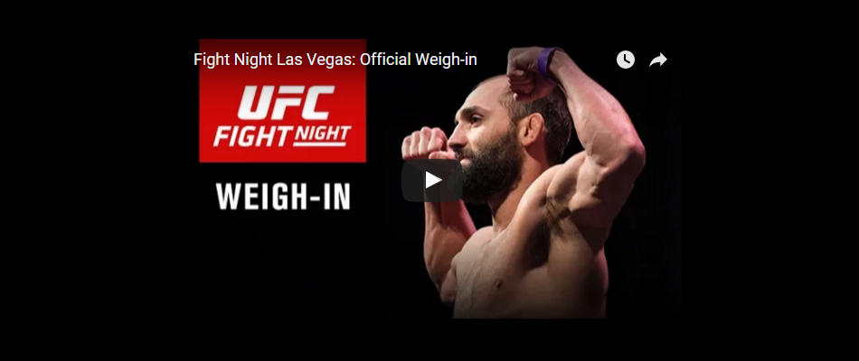 UFC Fight Night 82 Live Weigh-In (7:00 PM ET)