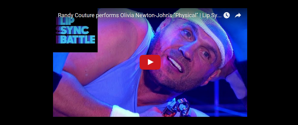 "Randy Couture performs Olivia Newton-John's ""Physical"""