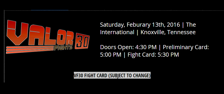 Valor Fights 30