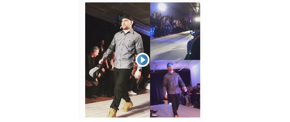 Chris Weidman shows off his catwalk skills