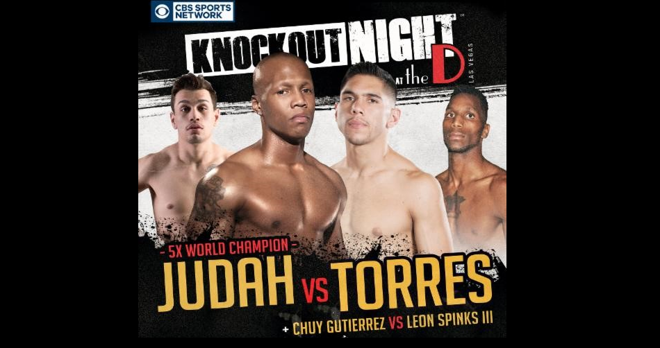 "Zab Judah returns – ""Knockout Night at the D"" series to air on CBS Sports Network"