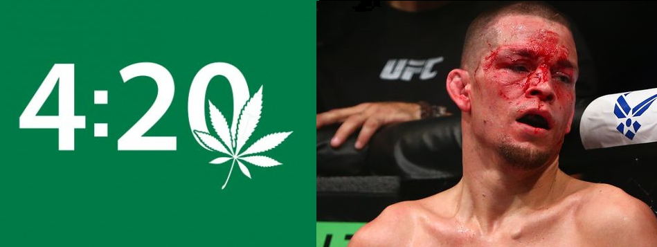 Can't Make This Stuff Up:  Nate Diaz Suspended Until 4/20